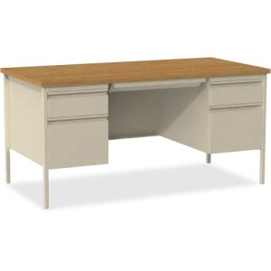 Lorell Fortress Series Double-Pedestal Desk (LLR60926)
