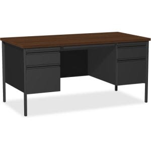 Lorell Fortress Series Double-Pedestal Desk (LLR60927)