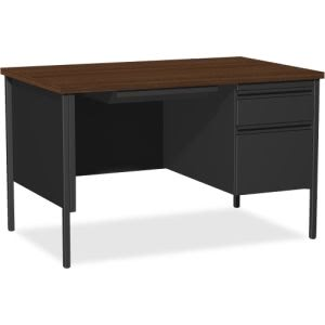 "Lorell Fortress Series 48"" Right Single-Pedestal Desk (LLR66902)"