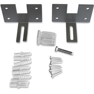 Lorell Panel Fabric Panel Wall Brackets, Aluminum, 2 Sets  (LLR90262)
