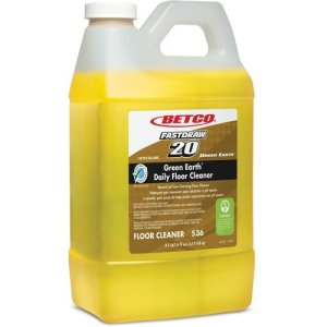 Green Earth Floor Cleaner, Foaming, 1/2 Gal (2 Liter), 4/CT, Yellow (BET5364700)