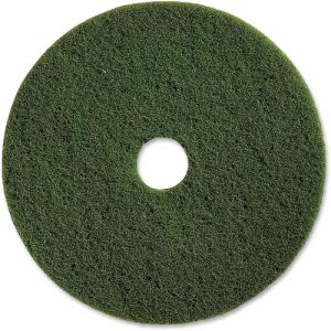 "Genuine Joe 13"" Scrubbing Floor Pad, Green, 5 Pads (GJO90313)"