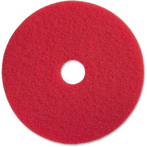 "Genuine Joe 19"" Red Buffing Floor Pad, Synthetic Fiber, 5 Pads (GJO90419)"