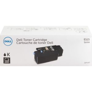 Dell Toner Cartridge, f/E525w, 2,000 Page Standard Yield, BK (DLLDPV4T)
