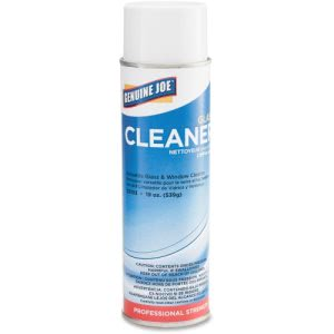 Genuine Joe Glass Cleaner, 19-oz, 12 Aerosol Cans (GJO02103CT)