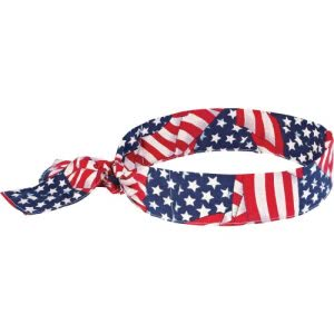 Chill-Its Evaporating Cooling Bandana, American Flag, 1 Each (EGO12303)
