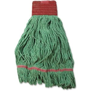 Impact Saddle Wet Mop Head, Tailbrand, Looped-End,Large, Green (IMPL281LG)