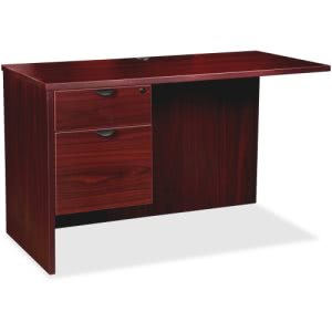 Lorell Prominence 79000 Mahogany Left Pedestal Return (LLR79187)