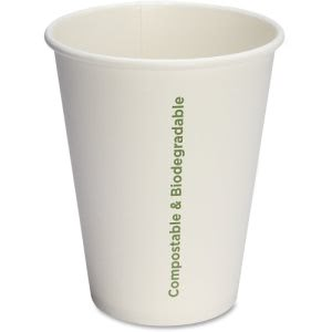 Genuine Joe Compostable Paper Cups, 12 oz., 50 Cups (GJO10215)