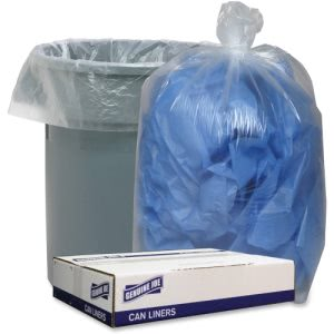 "Genuine Joe Low Density Liners, 43"" x 47"", Clear, 100 Liners (GJO29128)"