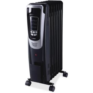 Lorell Mobile LED Display Radiator Heater, Casters, 1 Each (LLR33568)