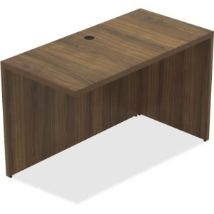 Lorell Chateau Series Walnut Laminate Desking, Each (LLR34323)