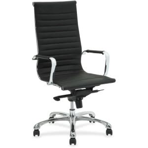 Lorell Modern Chair Series High-Back Leather Chair, Black (LLR59537)