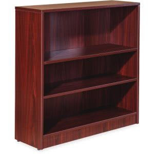 Lorell Essentials Series Mahogany Laminate Bookcase (LLR59564)