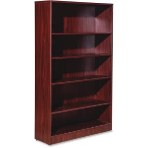 Lorell Essentials Series Mahogany Laminate Bookcase (LLR59567)