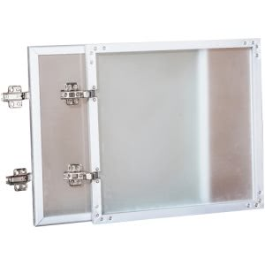 Lorell Wall-Mount Hutch Frosted Glass Door, 1 Each (LLR59577)