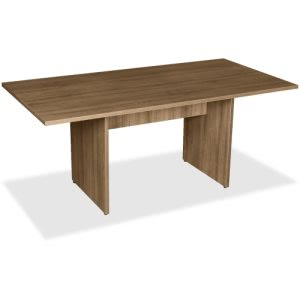 Lorell 2-Panel Base Rectangular Walnut Conference Table (LLR69996)