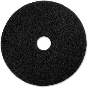 "Genuine Joe Black Floor Stripping Pad, 16"" Diameter, 5 Pads (GJO90216)"