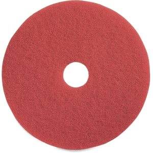 "Genuine Joe 15"" Red Buffing Floor Pad, Synthetic Fiber, 5 Pads (GJO90415)"