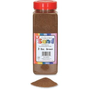 Hygloss Natural Colored Craft Sand, 3lb, Brown, 1 Each (HYX29310)