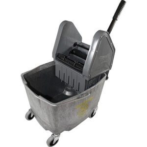 Impact 35 Quart Down Press Mop Bucket and Wringer, Gray (IMP4G26353G)