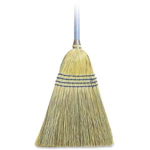 Genuine Joe Light Duty Broom, Corn Fiber, Wood Handle, Each (GJO12002       )