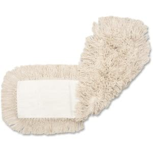 "Genuine Joe 24"" Cotton Dust Mop Refills, 4-Ply, Natural, 12 Refills (GJO24500CT)"