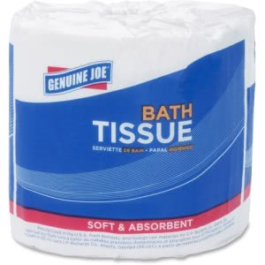 "Genuine Joe Standard 2-Ply Bath Tissue, 3"" x 4"", White, 96 Rolls (GJO4350096)"