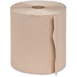 Genuine Joe Embossed Hardwound Roll Towels, Kraft, 6 Rolls (GJO22800)