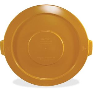 Impact Gator 32 Gallon Trash Can Lids, Yellow, 6 Lids (IMP773316CT)
