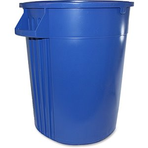 Impact Gator 44 Gallon Vented Trash Cans, Blue, 4 Trash Cans (IMP774411CT)