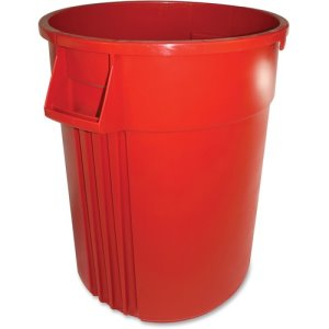 Impact Gator 44 Gallon Trash Can, Red, 4 Trash Cans (IMP77446CT)