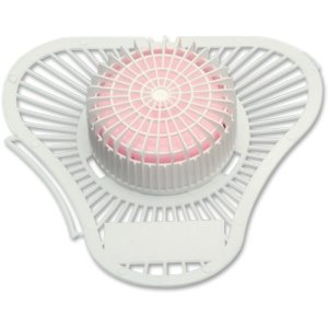 Impact Deodorizing Urinal Screens with Pink Para Block, 72 Screens (IMP9513CT)
