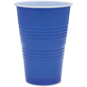 Genuine Joe 16-oz Blue Plastic Party Cups, 1,000 Cups (GJO11250CT)