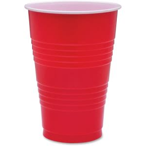 Genuine Joe 16-oz Red Plastic Party Cups, 1,000 Cups (GJO11251CT)