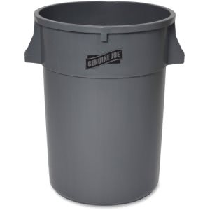Genuine Joe 44 Gallon Heavy-Duty Trash Container, Gray, 4 Cans (GJO11581CT)