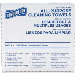 Genuine Joe All-Purpose Cleaning Towels, Reusable, 1000 Towels (GJO20275CT)