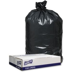 45 Gallon Black Garbage Bags, 40x46,1.2mil, 100 Bags (GJO98208)