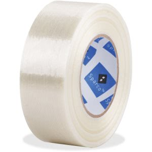 Business Source Heavy Duty Filament Tape, White, 1 Roll (BSN64018)