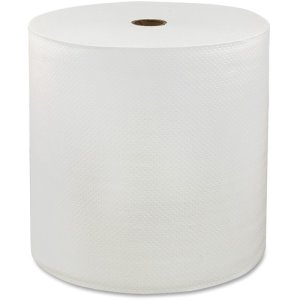 LoCor Hardwound Roll Towels, 1-Ply, 6RL/CT, White (SOL46898)