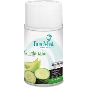 TimeMist Metered 30-Day Cucumber Melon Scent Refill, 12 Cans (TMS1042677CT)