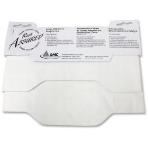 RMC Lever Dispensed Toilet Seat Covers, White, 125/Pack (IMP25188173)