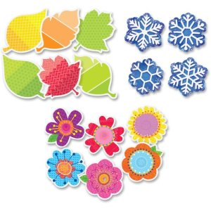 "Creative Teaching Press 4 Seasons 3"" Cut-Outs Pack 36Pcs, 4/PK, MI (CTC8900)"