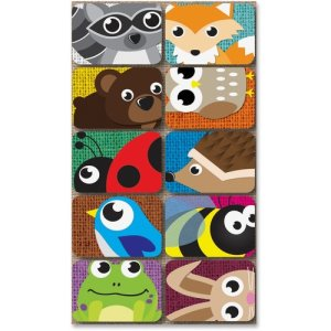 "Ashley Mini Whiteboard Erasers Critters, 2""x1-1/2""x3/4"", 10/PK, MI (ASH78001)"