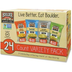 Boulder Canyon Potato Chip Variety Pack, 1.5oz. Bags, 24/CT, Ast (IVT012283)