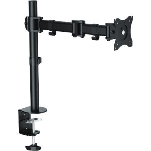 "Lorell Adjustable Mounting Monitor Arm, Single, 32"" Screen, Black (LLR99986)"