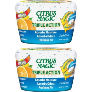 Citrus Magic Odor Moisture Freshener, 12.8oz., 2/PK, Fresh Citrus (BMT618372831)