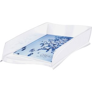"CEP Letter Tray, 500-Sht Capacity, 10-7/8""Wx15""Dx3-1/4""H, White (CEP1003000021)"