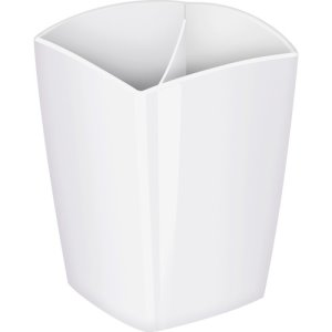 "CEP Pencil Cup, 2 Compartments, 2.9"" x 2.9"" x 3.75"", White, Each (CEP1005300021)"