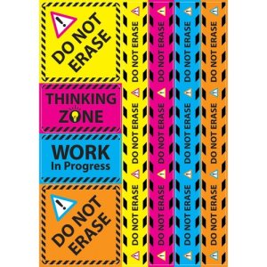 "Ashley Magnetic Sign Set, Write-On/Wipe-Off, 12""x17"", 8/ST, AST (ASH77023)"